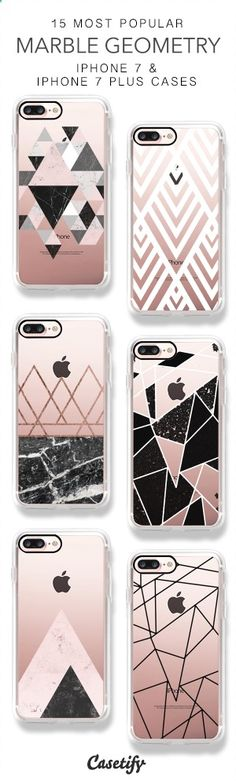 15 Most Popular Marble Geometry iPhone 7 Cases & iPhone 7 Plus Cases here > www.casetify.com/...