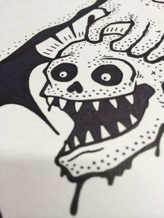 skull.  art by Sho Watanabe.
