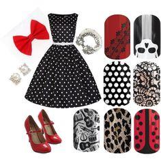 Rockabilly Jamberry Nails ladybug music leopard lace skulls polka dot bow