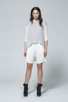 Spring Summer 2015, White Shorts, Two By Two, Contrast, Collection, Tops, Fashion, Moda, Fashion Styles