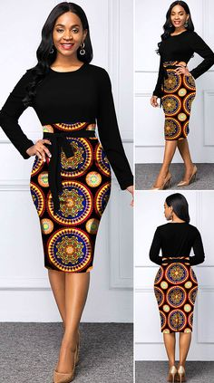 African Print Skirt, Tribal Print Dress, African Print Dresses, African Print Fashion, Tribal Prints, Short African Dresses, Latest African Fashion Dresses, Bodycon Dress Outfit, Outfits Dress