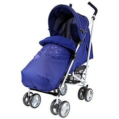 Zeta Vooom - Navy (Hearts & Stars) Complete With Footmuff And Raincover Best Baby Strollers, Double Strollers, Jogging Stroller, Footrest, Prams, Hand Warmers, Sunny Days, Sunnies, Birth