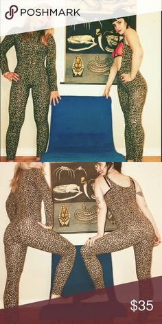 225dee55be9 American Apparel full body suit M leopard As pictured on LEFT in pictures.  Item on