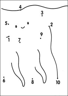 Dot to dot - Very easy coloring pages printable games
