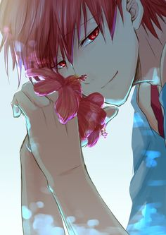 Yo, somehow, the meaning of flowers turned seductively deadly. XD - DA | Karma Akabane | Assassination Classroom