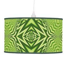 green pattern hanging pendant lamp