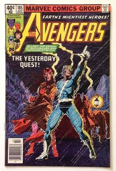 Avengers #185 VF 8.0 – Origin of Quicksilver & Scarlet Witch / Bova Cameo 1979