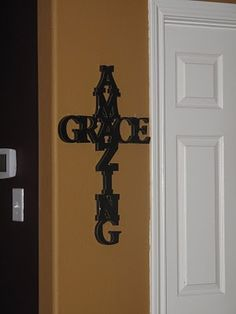 Love this! Use letters that are a bit smaller and hang in the family room.
