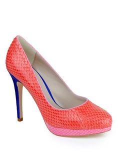 Bourne Sam Court Shoe, Coral