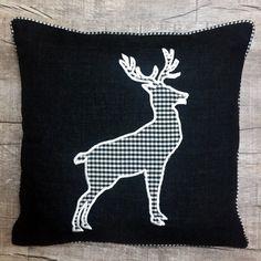 Zirbenkissen genäht und bestickt von: Moose Art, Animals, Dekoration, Animales, Animaux, Animal, Animais