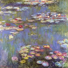 "Claude Monet ""Water Lilies"" / $154 - $929 incl.20% VAT and Shipping / Click http://mondialart.co.uk/product/water-lilies/ #art #painting #mondialart #replica"
