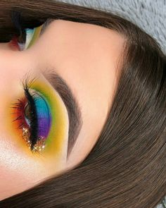 Make Up inspiration Cute Makeup, Glam Makeup, Makeup Inspo, Makeup Art, Makeup Inspiration, Beauty Makeup, Hair Makeup, Makeup Lips, Rainbow Makeup