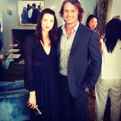 Sam and Caitriona wearing Burberry.  ❤️ : Photo