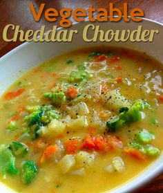 As the weather begins to cool, I love recipes that are not only warm, but healthy. Try this delicious Vegetable Cheddar Chowder! Its sure to warm the soul!