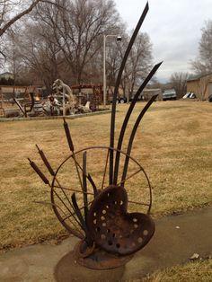 Metal yard art