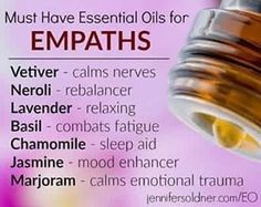 For my sweet Empaths and HSPs! Essential oils can help soothe your body, mind and soul. Add a few drops into your bath, your washcloth or even rub a little on your chakra centers! I love putting a couple dabs of oil on the bottoms of my feet for extra grounding! Anywhere you feel drawn to!