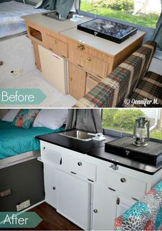 When she was given a 17-year-old camper, she did something recreated the inside into something anyone would want!