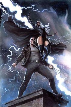 X-Men Storm Comic Covers - Bing images Wolverine Old Man Logan, Wolverine And Storm, Wolverine Art, Storm Marvel, Marvel Comic Universe, Comics Universe, Marvel Heroes, Marvel Comics, X Men