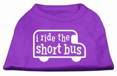 I ride the short bus Screen Print Shirt Purple L (14)