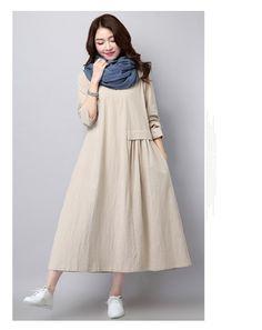 Doresuwe.com SUPPLIES やさしい雰囲気 無地カジュアルマキシワンピース 新作ドレス (7)
