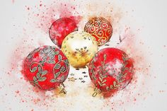 Boże Narodzenie, Piłki, Sztuka