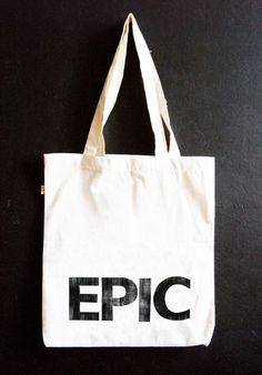 "Jutebeutel ""Epic"" // tote bag by hellopetie via DaWanda.com"