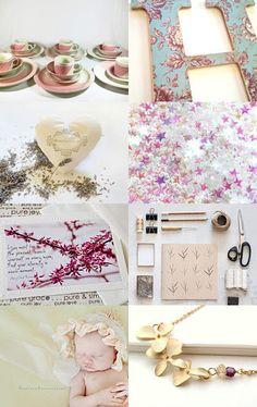 pink shabby chic romantic etsy