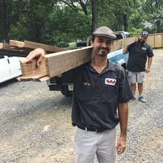 Nashville S Finest Woodworkers Out Delivering Some Box Beams Woodstock Vintage Lumber