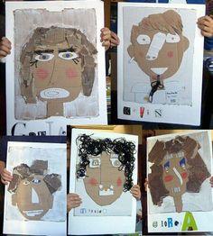 """Laboratorio sui ritratti con i bimbi… Self Portrait Art, Collage Portrait, Portraits, Club D'art, Art Club, Arte Elemental, Art Du Collage, Letter Collage, Classe D'art"