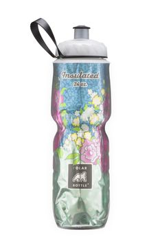 Stainless Steel Grip Water Bottle with Straw-Pink Liberty University-24oz