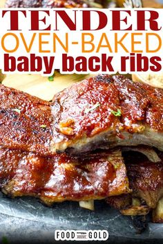 Learn How to Cook Tender Oven-Baked Baby Back Ribs. Even without a smoker you can still enjoy fall-off-the-bone tender ribs at home. Use this easy recipe for how to cook ribs in the oven and enjoy baked ribs any time! Ribs are one of those things that people don't often realize can be made at home. And if they do think about it, it seems to be difficult or unattainable. | @foodabovegold #fallofftheboneribs #ovenbakedribs #bestribrecipe Oven Baked Ribs, Ribs In Oven, Easy Family Meals, Easy Meals, How To Cook Ribs, Rib Meat, Roasted Strawberries, Smoked Ribs, Sweet Sauce
