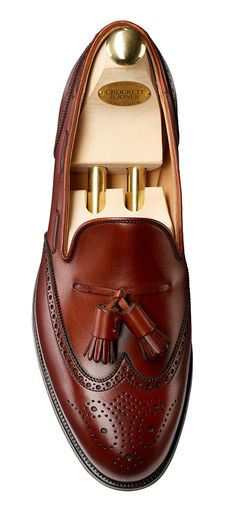 Lichfield Chestnut Calf, Tassel Loafer | Crockett & Jones