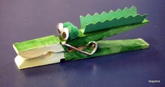 Tippytoe Crafts: Crocodile Magnets