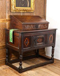 17th century hutch table, Marhamchurch antiques