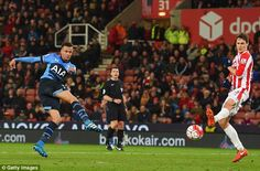 Dele Alli warns Leicester to expect a fight to the finish line as Tottenham cruise to Stoke win... despite midfielder's incredible miss