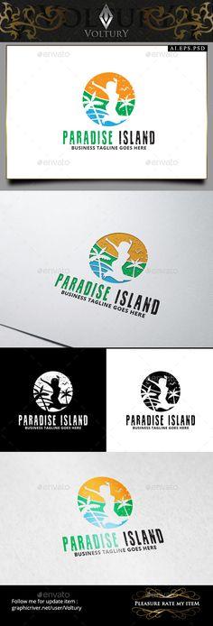 Paradise Island - Logo Design Template Vector #logotype Download it here: http://graphicriver.net/item/paradise-island-logo/9221588?s_rank=1372?ref=nesto
