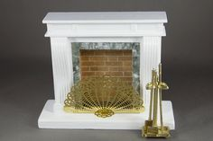 Fireplace with Tools and Grate