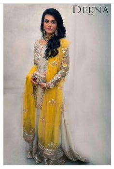 Pakistani bridal by Deena Rehman. Pakistani Formal Dresses, Pakistani Outfits, Indian Dresses, Indian Outfits, Bridal Mehndi Dresses, Indian Bridal Lehenga, Wedding Dresses, Drop Dead Gorgeous, Muslim Women Fashion