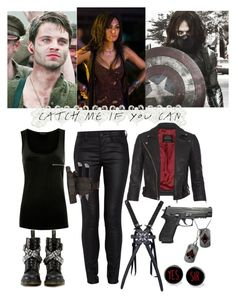 Catch Me If You Can - Captain America : The Winter Solider - Bucky Barnes Cosplay Outfits, Edgy Outfits, Classy Outfits, Outfits For Teens, Cool Outfits, Fashion Outfits, Marvel Inspired Outfits, Character Inspired Outfits, Bucky Barnes