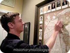 Missionary Mail: Our Missionary Wall  Love this! I want to do this in my house!