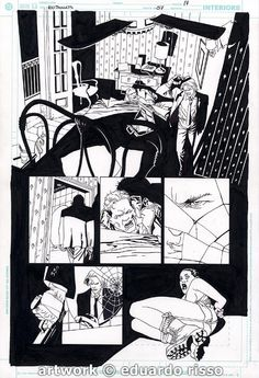 Eduardo Risso - 100 Bullets #57 pg17 Comic Art