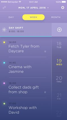 Beautiful List Ui For Mobile App Mobile Ui Design, App Ui Design, Interface Design, User Interface, Design Design, Calendar Ui, Module Design, App Design Inspiration, Mobile App Ui