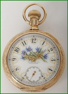 fancy dial | Lot 28: Waltham 18 Size 14K Pocket Watch with Fancy Dial