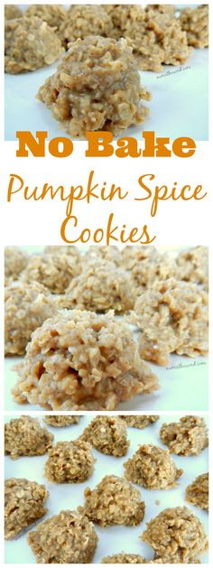 These simple no bake pumpkin spice cookies taste like fall. Simple to make and so good you wont be able to eat just one. They only take minutes to make!