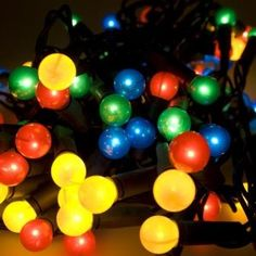Noma 11.85m Length Of 80 Multi Coloured Indoor Static Berry Lights Green Cable: Amazon.co.uk: Lighting