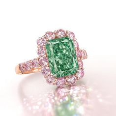 The 5.03 carat Fancy Vivid Aurora Green diamond sold for $16.9 million at Christie's Hong Kong in May.