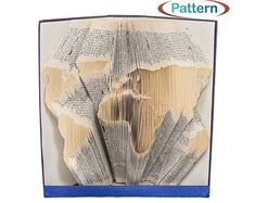 Folded book art Book folding patterns Birthday by WolFabricBooks Embroidery Sampler, Embroidery Patterns, Hand Embroidery, Crochet Patterns, Book Sculpture, Art Sculptures, Book Folding Patterns, Folded Book Art, Different Stitches