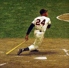 Baseball Art - Willie Mays by Arthur K. Miller