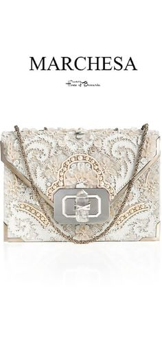 ~Marchesa Fall 2013 Lace & Pearl Embellished Bag   House of Beccaria