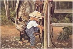 Little cowgirl with a little help so cute Little Cowgirl, Cowgirl And Horse, Cowboy Art, Horse Love, Cowgirl Pictures, Horse Pictures, All The Pretty Horses, Country Art, Country Life